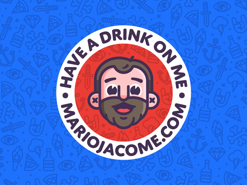 Have a drink on me... get it? coasters icons badge vector character design design branding graphic design illustration