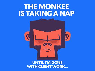 Take a Break Monkee... joystick n sliders vector animted video animation branding character design illustration