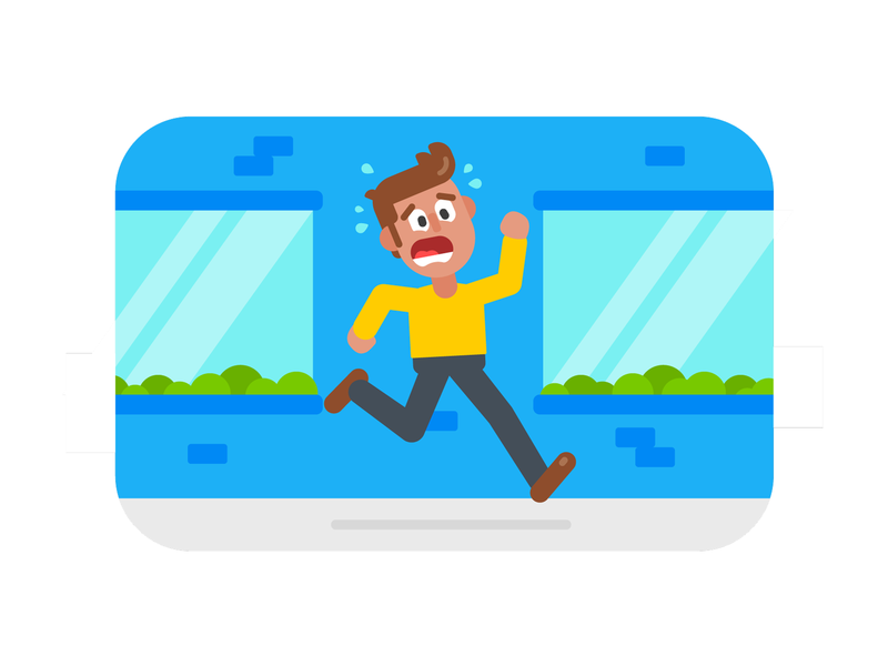 Where Is The Bathroom? running character design design branding graphic design illustration
