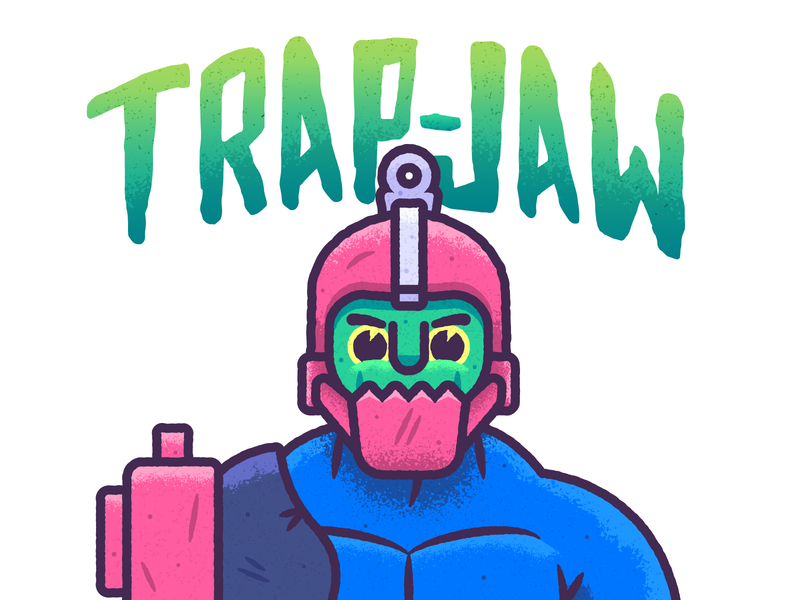 The Villain with a Trap as a Jaw trap jaw graphic design masters of the universe character design vector design illustration he-man heman