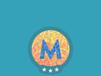Mastered m badge