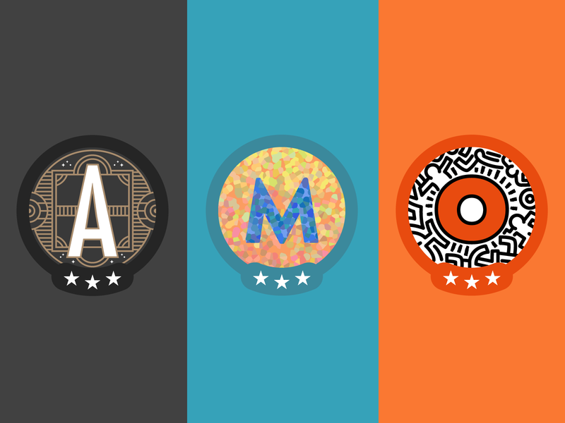 The Badges - The Second Wave badges typography badge vector icons logo design icon branding graphic design illustration