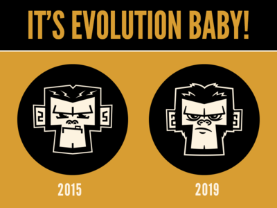 2015 vs 2019 punk ska monkey vector character design branding graphic design illustration