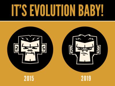 2015 vs 2019 punk ska monkey vector character design branding graphic design illustration