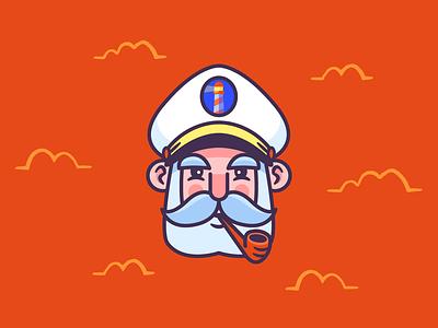 Lightkeeper sailor vector logo graphic design design branding illustration character design
