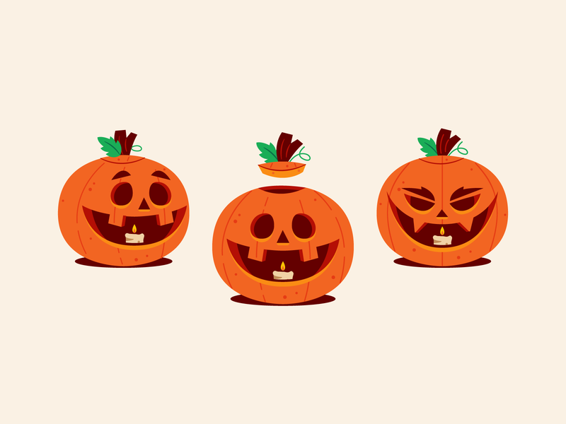 Pump Kings! jackolantern pumpkin halloween vector character design graphic design illustration