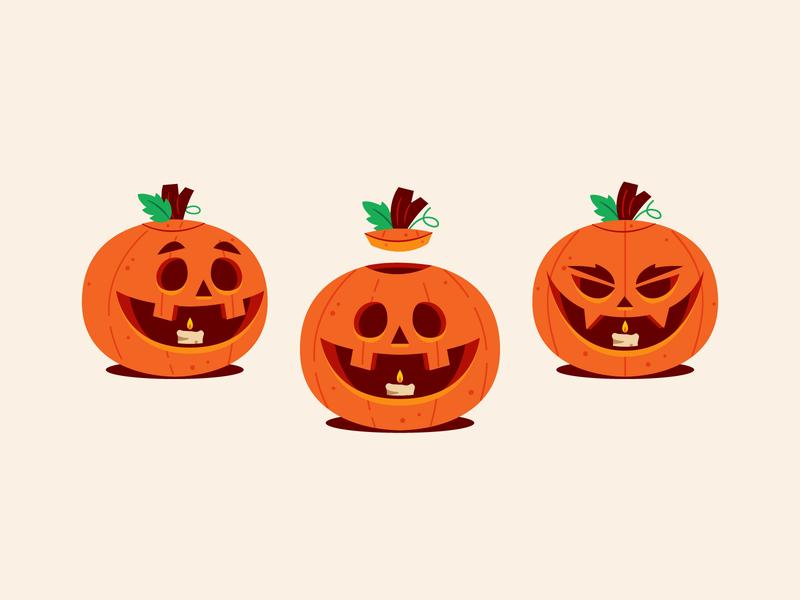 Pump Kings! jackolantern pumpkin halloween vector character design graphic design illustration