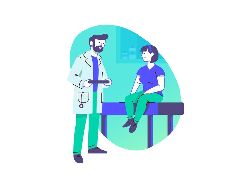 Style Test doctor vector character design design branding graphic design illustration