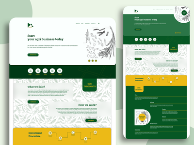 Agriculture Business UX agriculture business  consulting illustration colors branding website design web ui xd design design concept clean color