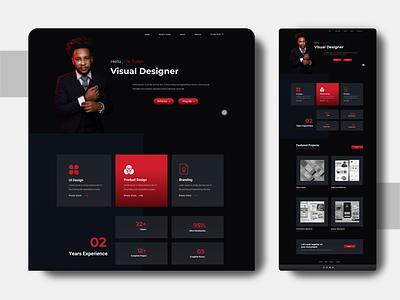 Visual Designer Portfolio Ui colors website design aplications logo branding portfolio website ui 2020 trend portfolio figmadesign figma design concept clean color