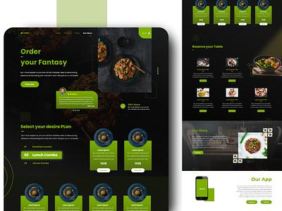 Healthy Food Web UX foodpanda green 2020 trend website design ui ux xd design design concept clean color food illustration restaurant food app food and drink foodie