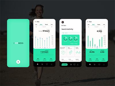 Fitness App app healthcareapp healthcare fitness tracker fitness app application 2020 trend aplications website design xd design illustration branding app design design concept clean color
