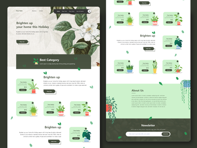 Tree Plant | Online Sale | Ecommerce responsive treeecommerce treehouse2020 treehouse treeplant illustration app design typography vector 2020 trend website design xd design design concept clean color