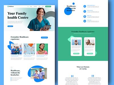 Healthcare Website | Clinic | Dental Clinic 2021 design hospital dental clinic 2021 colors illustration app design branding aplications 2020 trend xd design website design design concept clean color
