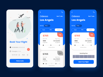 Airline Ticket Booking Mobile App UI user design creative design 2021 design appdesign appdesigner flight search flight app flight booking app design aplications branding xd design website design design concept clean color