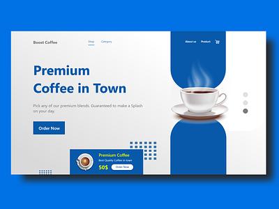 Coffee Shop Landings | Coffee Shop coffeeshoplogo coffee bean coffee cup blue colors coffee coffeeshop illustration app design aplications branding 2020 trend xd design website design design concept clean color