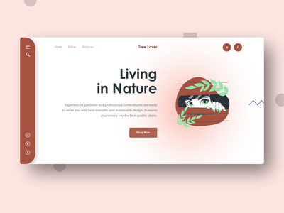 Rooftop Gardening Solutions Agency agency website agency landing page tree plantation agency nature art nature illustration treehouse agency branding agency colors app design illustration aplications branding 2020 trend xd design website design design concept clean color