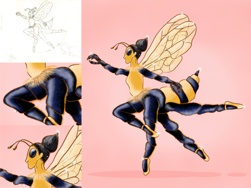 BEE QUEEN bee ilustración creative illustration