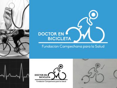 Doctor en Bicicleta vector doctor creative logo design logo