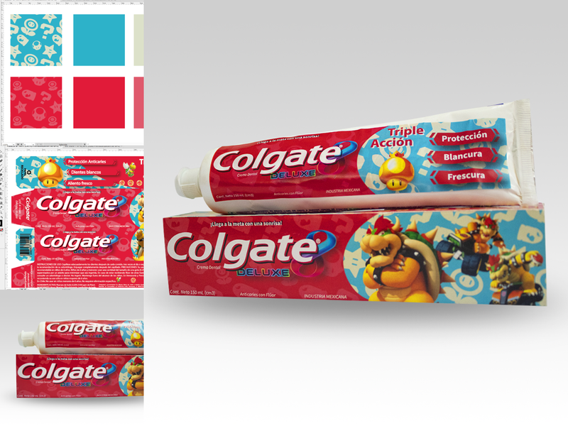 Colgate Deluxe creative diseño design packaging empaque