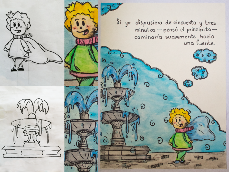 53 Minutos time drawing the little prince prince paintings acuarela