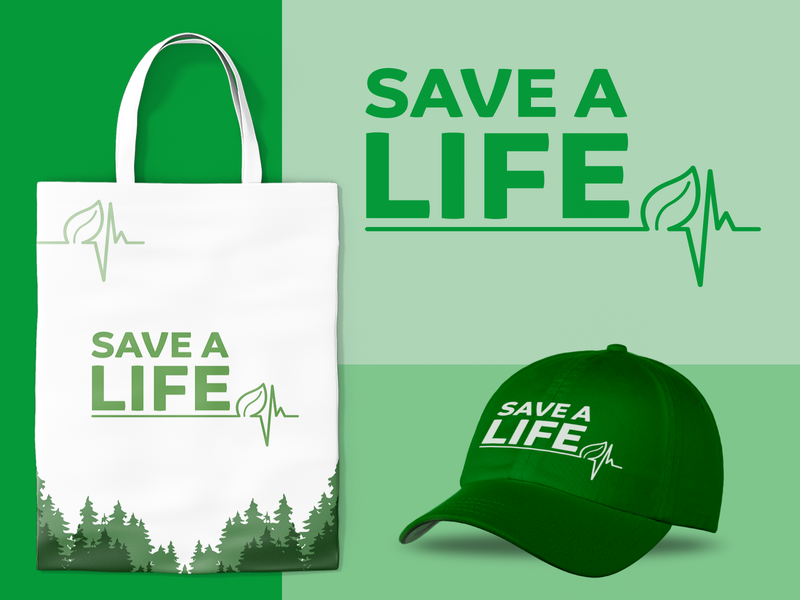 Save a Life design branding logo vector logo design