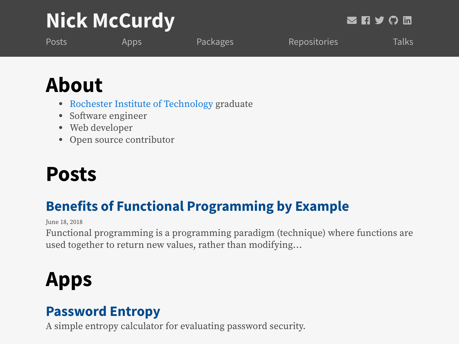 nickmccurdy com by Nick McCurdy | Dribbble | Dribbble