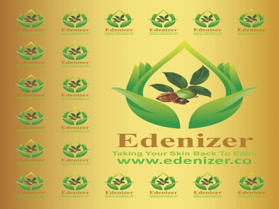 Edenizer bannersmall beauty products cosmetics skin care banners design vector branding logo illustration
