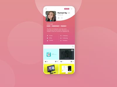 Daily UI #006 - User Profile user profile 006 app ui design dailyui