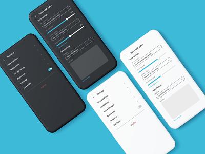 Daily UI #007 - Settings settings 007 app ui design dailyui
