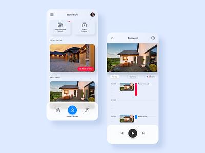 Ring  App Redesign redesign ui video app video camera app security app mobile app mobile ui app ring