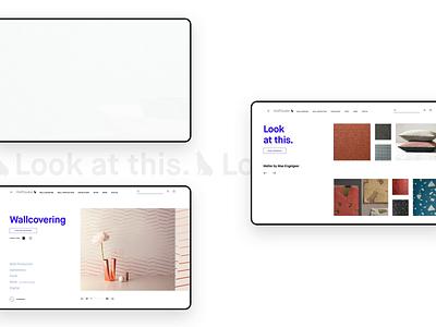 Wolf Gordon principle aftereffects wallcovering interior design branding ecommerce website animation designer