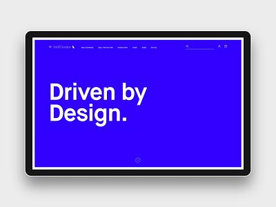 Wolf Gordon About Intro interaction design interaction blue wolf interiordesign agency landing page ui ux branding web