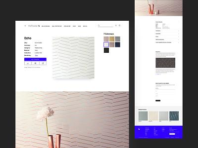 Wolf Gordon Product Page minimal ui interior interior design wallpaper wall web design webdesign ecommerce product
