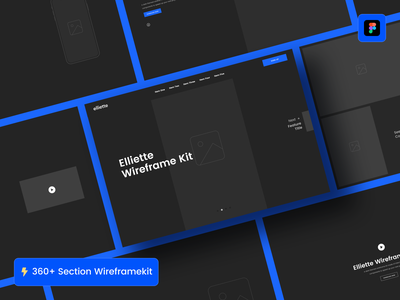 Elliette Wireframe Kit webdesign figma ecommerce landing page web ui wireframe kit wireframes wireframe