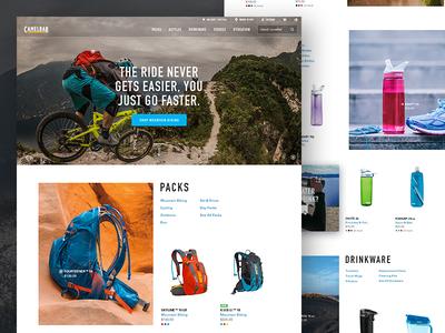 Camelbak.com bottles packs ui ux brand design mountain bike camelbak web ecomm ecommerce