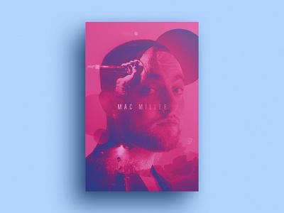Mac Miller Poster design poster a day mac poster design double exposure mac miller poster