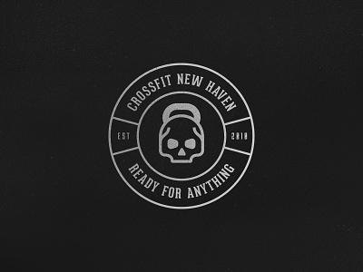 Crossfit Logo v2 texture branding fitness gym logo skull kettlebell weightlifting crossfit