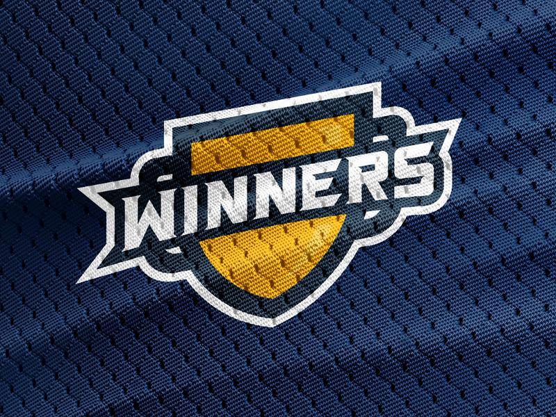 Winners   Unused Concept custom type typography clothing sportswear league fantasy football logo branding