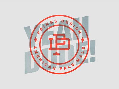 Yeah Dude vintage beer badge typography logodesign logotype logo brand identity monogram branding
