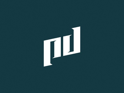 PD monogram vector illustration typography brand identity branding logo
