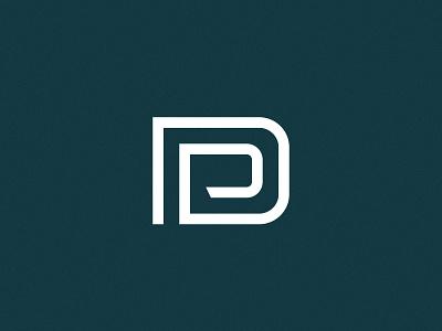 PD Monogram custom lettering typography logotype design type branding logo pd monogram