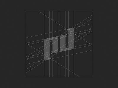 PD Grid 1 monogram typography branding grid logogrid logodesign logotype logo