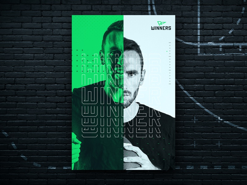 Winners Collateral branding design betting sports branding poster typography logo branding sports