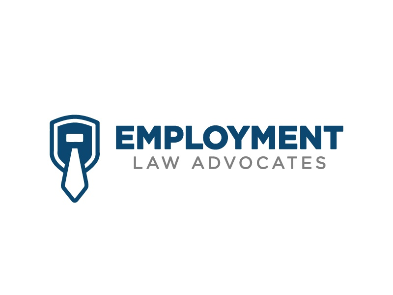 Employment Law Advocates Logo logo shield law tie legal branding illustrator graphic design brand advocates employment