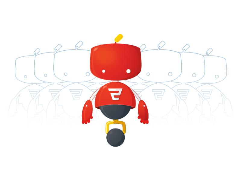 Promi - The Service Bot promi illustration branding character robot ecommerce brand logo promolizers service bot