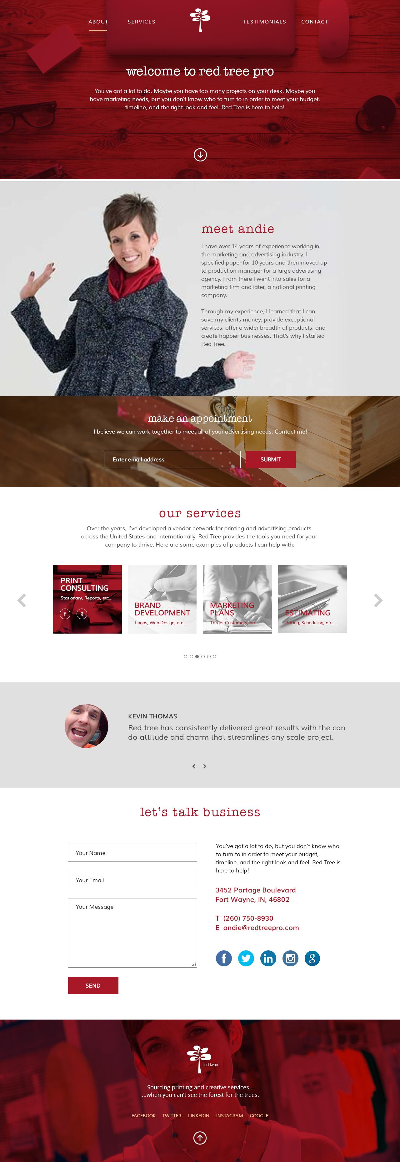 Redtreepro homepage full