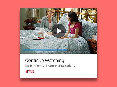 Netflix Card aviate video modern family ui ux mobile card netflix