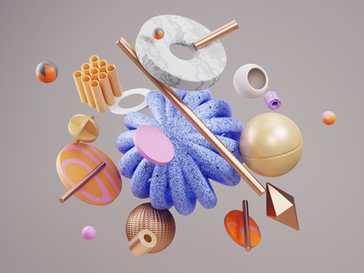 3D Abstract design colourscheme textures shapes cyclerender cycle blender3dart graident gift christmas 3d character 3d color art abstract 3d shapes