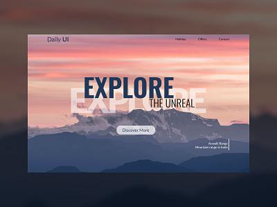 DailyUI Challenge Day 3- Landing Page adobe illustrator adobexd minimal daily 100 challenge app adobe photoshop ui adobe xd day 3 daily ui daily ui challenge daily 100 dailyui